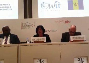 (ქარ) ნინო ზამბახიძე  მსოფლიო სავაჭრო ორგანიზაციაში სიტყვით გამოვიდა